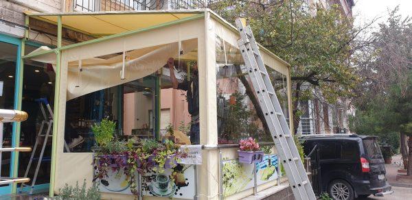 Şeffaf Kapama Cafe